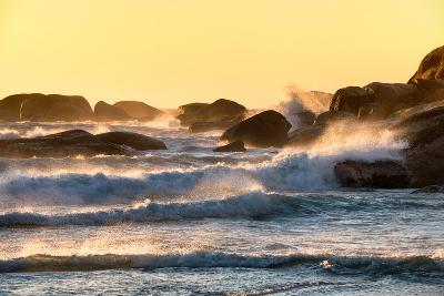 Awesome South Africa Collection - Powerful Ocean Wave at Sunset-Philippe Hugonnard-Photographic Print