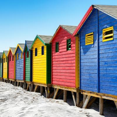 Awesome South Africa Collection Square - Colorful Beach Huts at Muizenberg - Cape Town III-Philippe Hugonnard-Photographic Print
