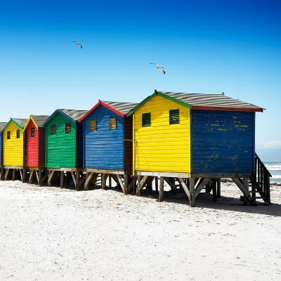 Awesome South Africa Collection Square - Colorful Beach Huts at Muizenberg - Cape Town VI-Philippe Hugonnard-Photographic Print