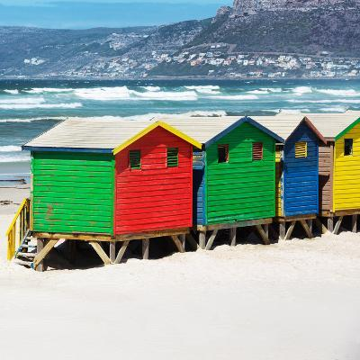 Awesome South Africa Collection Square - Colorful Beach Huts - Cape Town II-Philippe Hugonnard-Photographic Print