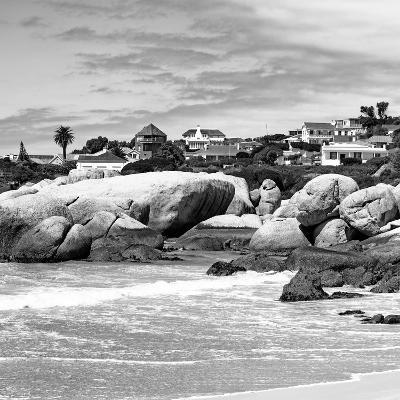 Awesome South Africa Collection Square - Landscape of Boulders Beach - Cape Town B&W-Philippe Hugonnard-Photographic Print