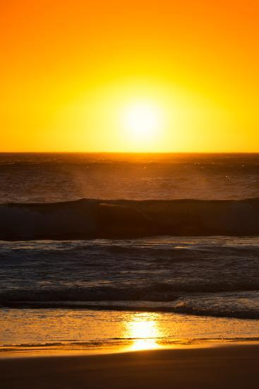 Awesome South Africa Collection - Sunset Blazing Sun over the Ocean I-Philippe Hugonnard-Photographic Print