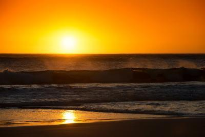 Awesome South Africa Collection - Sunset Blazing Sun over the Ocean-Philippe Hugonnard-Photographic Print