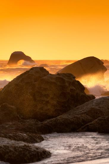 Awesome South Africa Collection - Sunset on Sea Stacks I-Philippe Hugonnard-Photographic Print