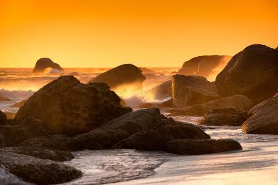 Awesome South Africa Collection - Sunset on Sea Stacks-Philippe Hugonnard-Photographic Print
