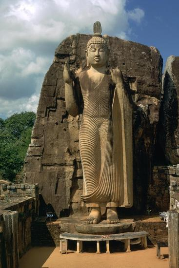 Awkana Buddha, a colossal statue. Artist: Unknown-Unknown-Giclee Print