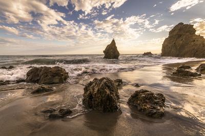 Beach, Malibu, California, USA: Famous El Matador Beach During Sunset In Summer