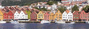 Bergen, Hordaland, Norway: Bryggen Panoramic During The Day by Axel Brunst