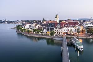 """Friedrichshafen, Baden-Württemberg, GER: City And Harbor From The """"Moleturm"""" Lookout Tower by Axel Brunst"""