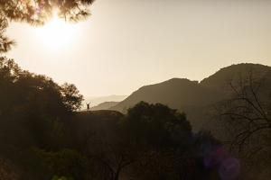 Hollywood Hills, Los Angeles, California, USA: A Male Hiker Enjoying The Freedom by Axel Brunst