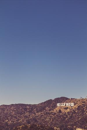 Hollywood Sign, Los Angeles, CA, USA: Famous Hollywood Sign Viewed From The Griffith Observatory