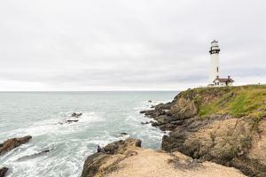 Pigeon Point Lighthouse, California, USA: The Lighthouse On A Cloudy Day by Axel Brunst