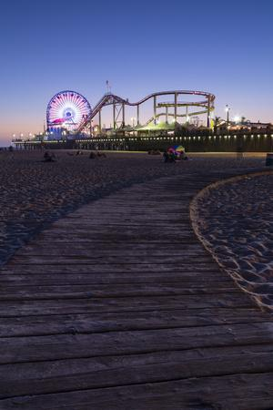 Santa Monica, Los Angeles, California, USA: The Santa Monica Pier After Sunset
