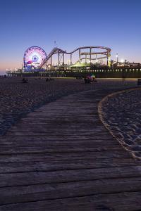 Santa Monica, Los Angeles, California, USA: The Santa Monica Pier After Sunset by Axel Brunst