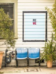 Venice, California, USA: Two Seats In Front Of A House With A Hand Painted Sign Reading 'Me We' by Axel Brunst