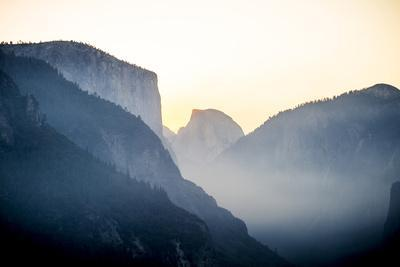 Yellowstone NP, California, USA: Grand View Over The Yosemite Valley While The Sun Is Rising