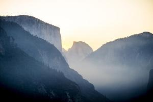 Yellowstone NP, California, USA: Grand View Over The Yosemite Valley While The Sun Is Rising by Axel Brunst