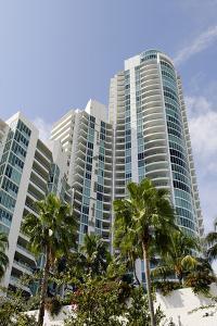 Apartment Tower at the South Pointe Beach, Miami South Beach, Art Deco District, Florida, Usa by Axel Schmies