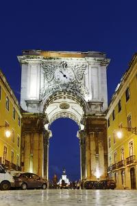 Arco Da Rua Augusta, Praca Do Comercio, Commercial Square, Baixa District, Lisbon, Portugal by Axel Schmies