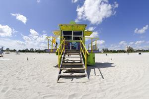 Beach Lifeguard Tower '12 St', in Art Deco Style, Miami South Beach by Axel Schmies