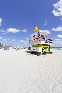 Beach Lifeguard Tower '16 St', Atlantic Ocean, Miami South Beach, Florida, Usa by Axel Schmies