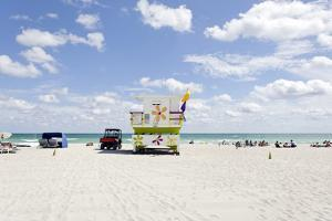 Beach Lifeguard Tower '16 St', Atlantic Ocean, Miami South Beach, Florida, Usa by Axel Schmies