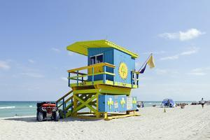 Beach Lifeguard Tower '74 St', Atlantic Ocean, Miami South Beach, Florida, Usa by Axel Schmies