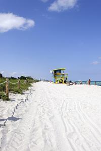 Beach Lifeguard Tower '74 St', Atlantic Ocean, Miami South Beach, Florida, Usa by Axel Schmies