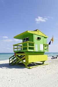 Beach Lifeguard Tower '77 St', Atlantic Ocean, Miami South Beach, Florida, Usa by Axel Schmies