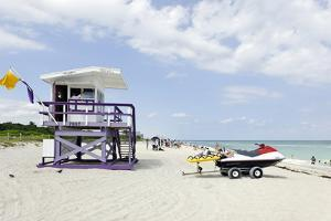 Beach Lifeguard Tower '79 St', Miami South Beach, Florida, Usa by Axel Schmies