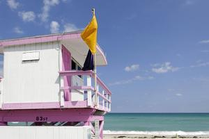 Beach Lifeguard Tower '83 St', Atlantic Ocean, Miami South Beach, Florida, Usa by Axel Schmies