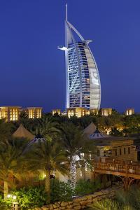 Burj Al Arab and Medinat Hotels, 7 Stars Hotel, Jumeirah, Dubai, United Arab Emirates by Axel Schmies