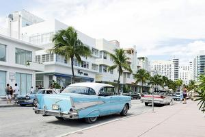 Chevrolet Bel Air, Year of Manufacture 1957, the Fifties, American Vintage Car, Ocean Drive by Axel Schmies