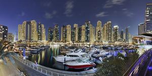 Dubai Marina, Night Photography, Yachts, Tower, Hotels by Axel Schmies