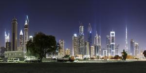 Dubai, Skyline at Night, Dubai Marina, United Arab Emirates by Axel Schmies