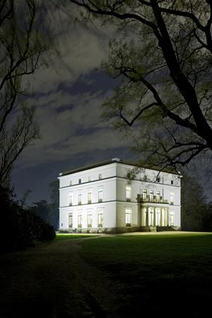 Ernst Barlach House, Museum, at Night, Illuminated, Park by Axel Schmies