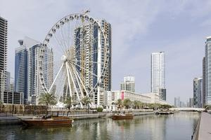 Ferris Wheel 'Eye of the Emirates' at the Amusement Park 'Al Qasba', Emirate of Sharjah by Axel Schmies