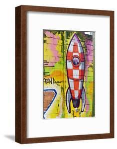 Graffiti, Coloured Rocket, Ottensen, Hanseatic City Hamburg, Germany by Axel Schmies