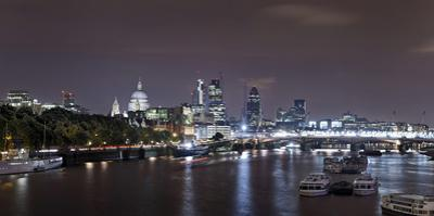 Panorama, City of London, St Paul's Cathedral, Anglican Cathedral, the Thames by Axel Schmies
