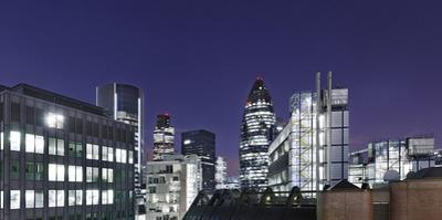 Panorama, City of London, Swiss-Re-Tower, 30 St. Mary Axe, England, Great Britain by Axel Schmies