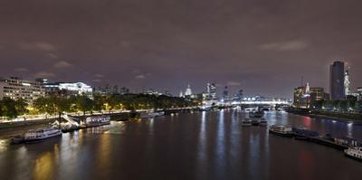 Panorama, City of London, the Thames, Night Photography, London, England, Uk by Axel Schmies