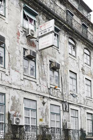 Ramshackle Apartment Building with Alarm System, Baixa District, Lisbon, Portugal by Axel Schmies