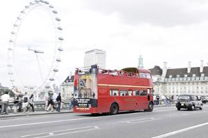 Red Double-Decker Bus, Westminster Bridge, District Westminster, London, England, Uk by Axel Schmies
