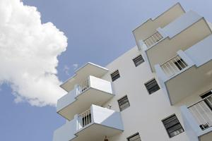 Residential House, Balconies, Art Deco Architecture, Washington Avenue, Miami South Beach by Axel Schmies