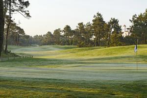 View on a Golf Course with Ground Fog, Praia D'El Rey, Atlantic Coast by Axel Schmies