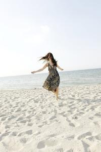 Woman, Young, Summer Dress, Sandy Beach, Niendorf on the Baltic Sea by Axel Schmies
