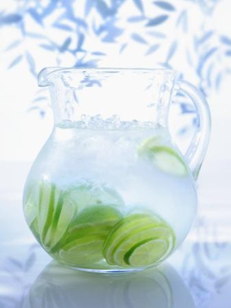 A Jug of Water with Limes by Axel Weiss