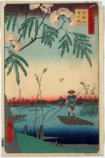 Ayasegawa Kanegafuchi-Utagawa Hiroshige-Giclee Print