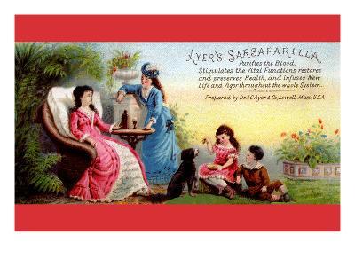 Ayer's Sarsaparilla Purifies the Blood--Art Print