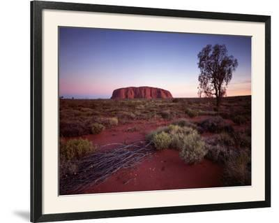 Ayers Rock, Uluru at Sunset--Framed Photographic Print